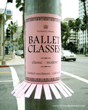 clever advert ballet classes