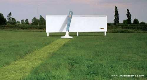 clever advert bic razor billboard