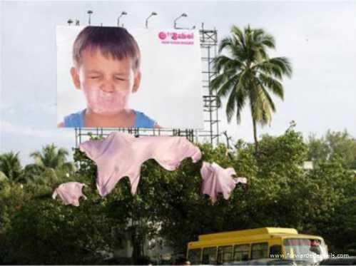 clever advert bubblegum billboard