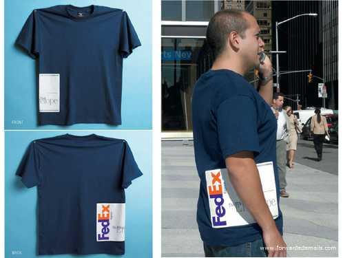clever advert fedex tshirt