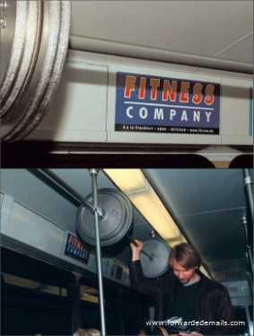 clever advert fitness on bus