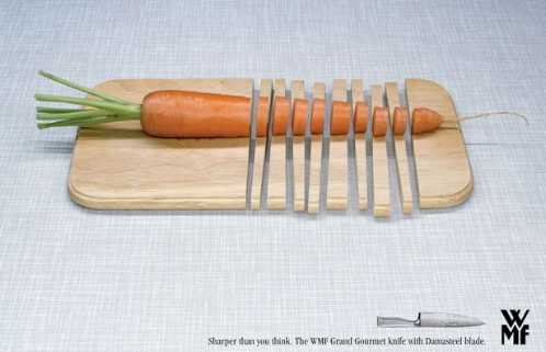 amazing funny creative ads wmf gourmet knife