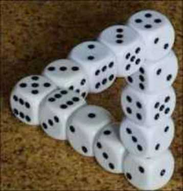 impossible object illusions dice
