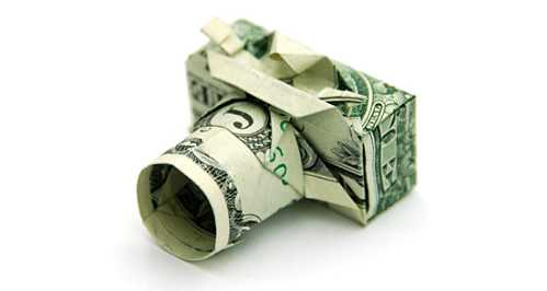 one dollar bill origami camera