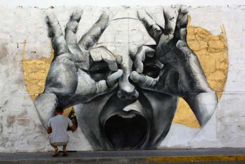realistic street art mesa 7