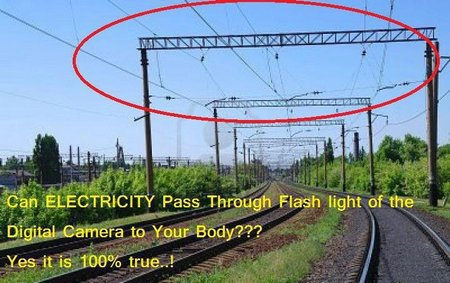 Electricity through flash light