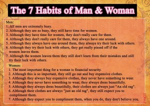 7 habits of man and woman [Kirti Patel]