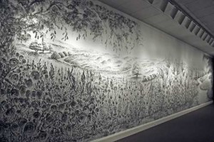 Remarkable charcoal finger painted landscape mural [Fwd: Sharon Rajkumar]