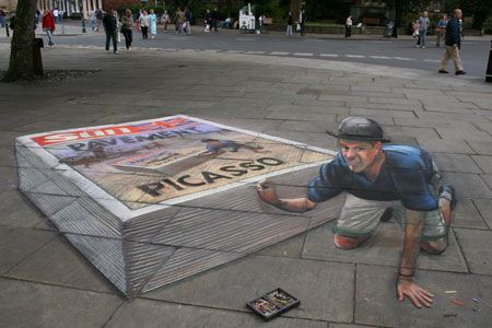 3d chalk art 11