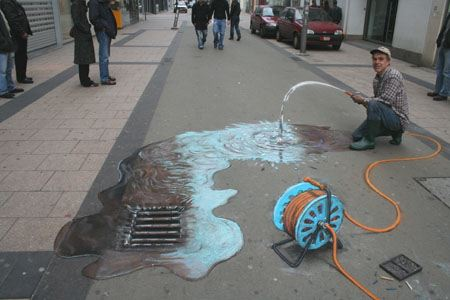 3d chalk art 4