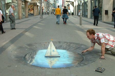 3d chalk art 5