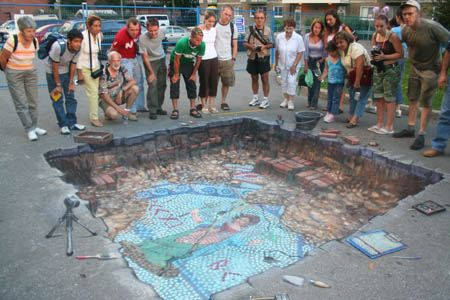 3d chalk art 8