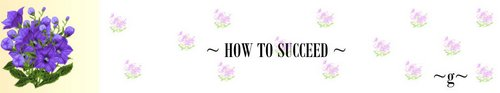 how to succeed 1