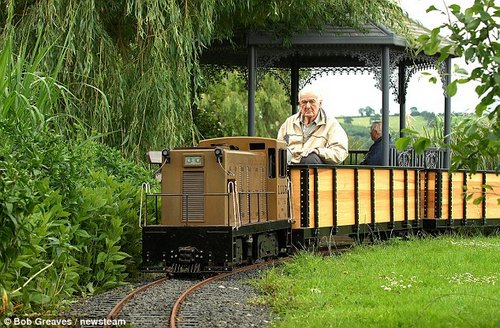 pensioner loves train 6