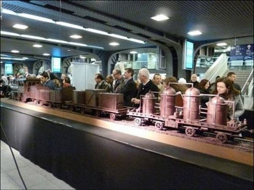 train made of chocolate 7