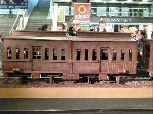 train made of chocolate 8