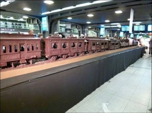 train made of chocolate 9